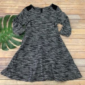 Old Navy gray space dye knit fit and flare dress